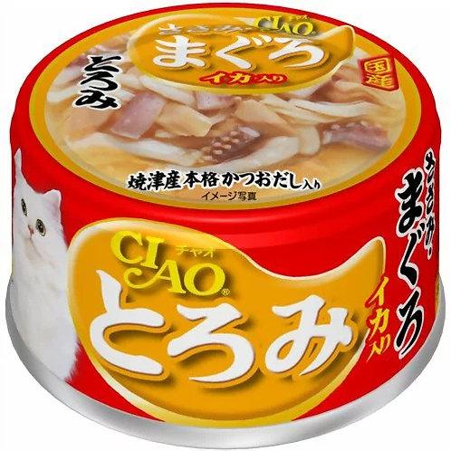 CIAO 貓罐頭 - 雞肉吞拿魚魷魚 80g