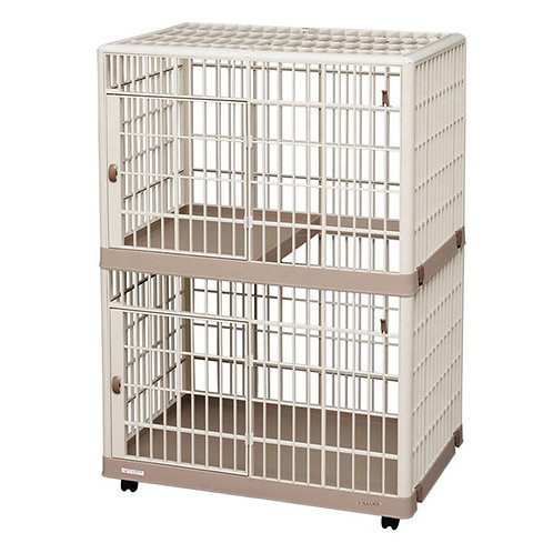 IRIS 可移動式兩層樹脂寵物籠(S/L)