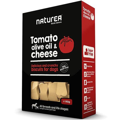 Naturea 無榖物手造狗曲奇-蕃茄橄欖油帕爾馬乾酪 140g