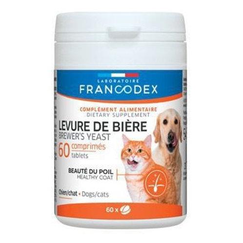 法國Francodex 美毛酵母丸 60粒