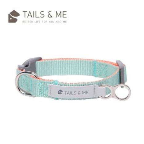 Tails & Me 經典尼龍系列|狗頸圈|粉橘薄荷 (S/M/L)