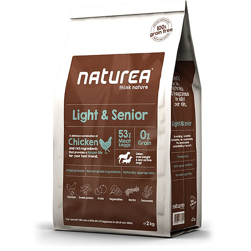 Naturea 無榖物鮮肉糧-低熱量成犬鮮雞肉配方 (2KG/12KG)