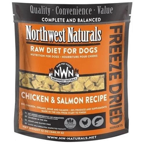Northwest Naturals 脫水凍乾狗糧 - 三文魚雞肉 12oz