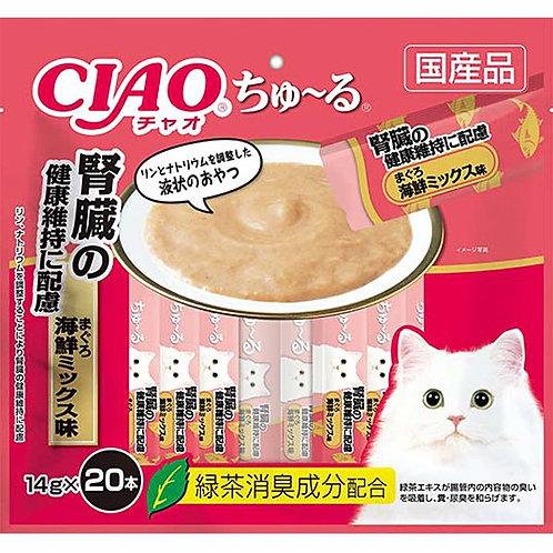 CIAO 腎臓健康吞拿魚海鮮雜錦醬