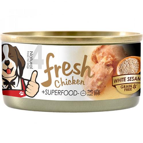 超級香雞腿4號狗罐頭 - 香燉雞腿肉白芝麻 85g