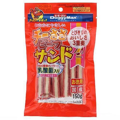 DoggyMan 乳酸菌芝士雞牛三文治條 150g