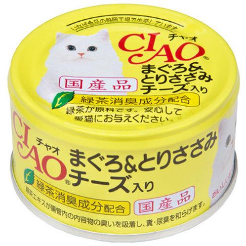 CIAO 貓罐頭 - 吞拿魚雞肉芝士 85g
