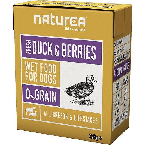 Naturea 無穀物鮮肉狗濕糧-鴨肉野莓 375g