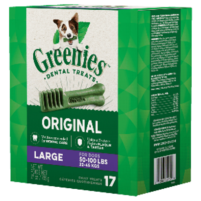 Greenies LARGE狗用潔齒牙骨 x 17支