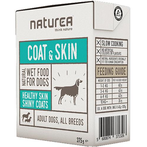 Naturea 無穀物單一蛋白狗濕糧-美毛配方(野豬肉,胡蘿蔔) 375g