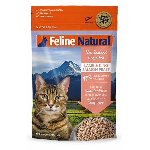 Feline Natural無穀物脫水貓糧 - 羊肉三文魚 320g