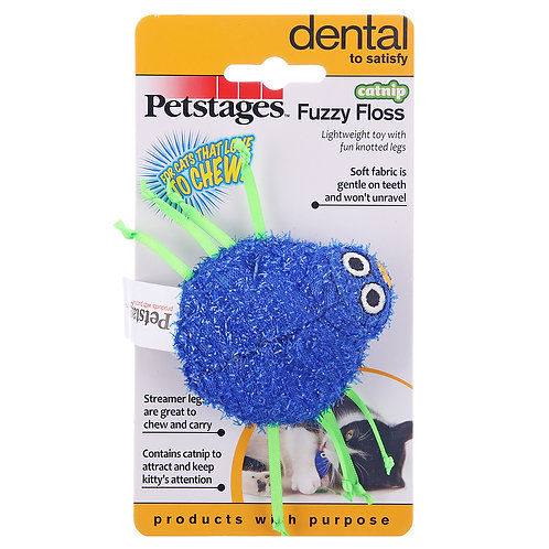 Petstages Catnip Fuzzy Floss Cat Dental Toy