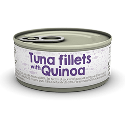 Naturea 升級版無穀物貓主食罐(吞拿魚+藜麥)70g