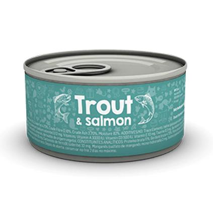 Naturea歐金 天然無穀物貓主食罐(鱒魚+三文魚)
