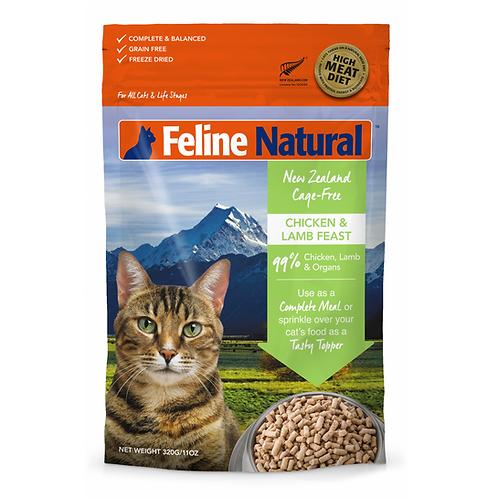 Feline Natural 無穀物脫水貓糧 - 雞肉羊肉320g