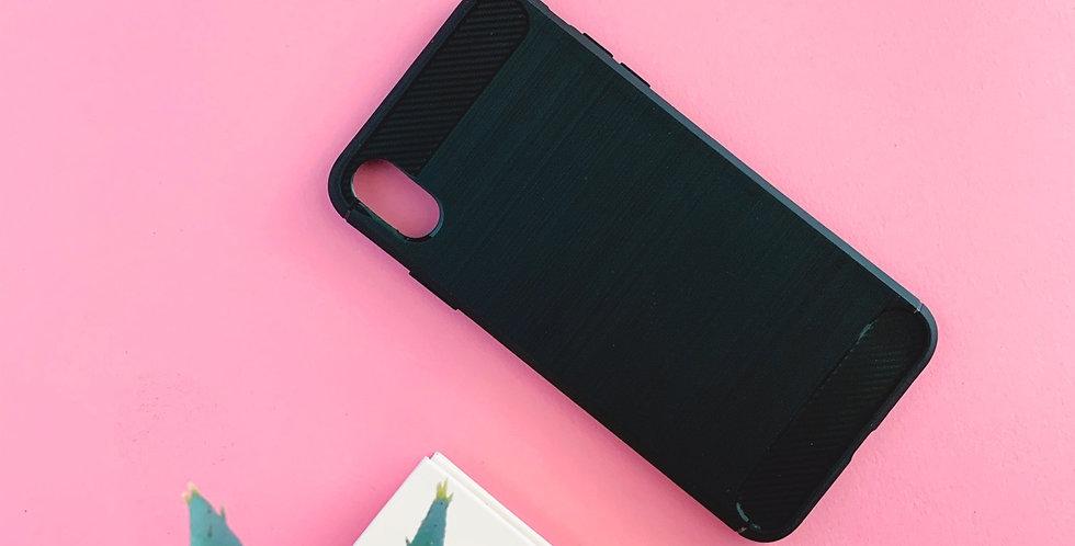 Coque en gel fibre carbone noire Gadget Shield