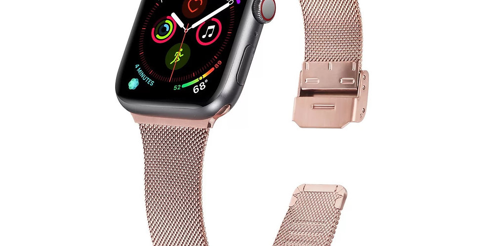 Glossy Pink Apple Watch Band