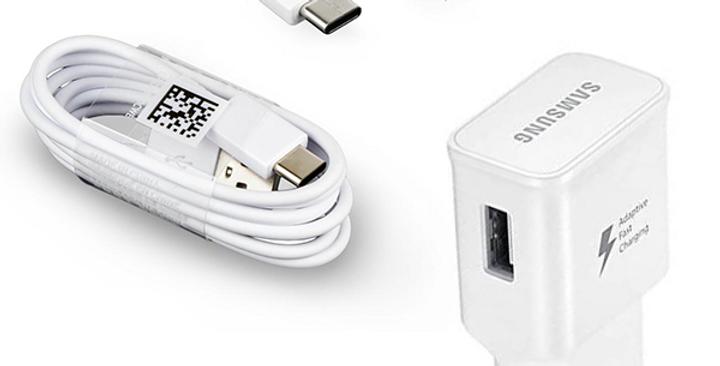 Adaptateur secteur charge rapide + Câble Type C Samsung blanc