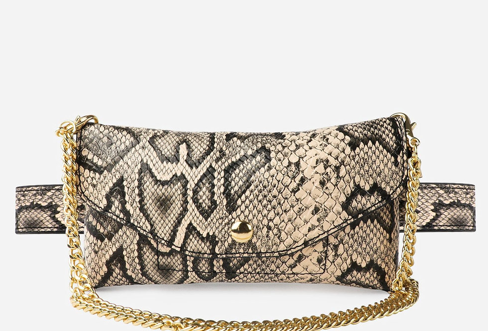 Snakeskin Convertible Fanny Pack