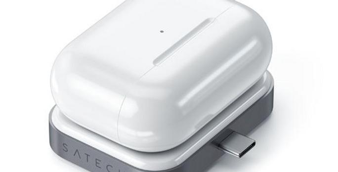 Chargeur sans fil Airpods USB-C gris