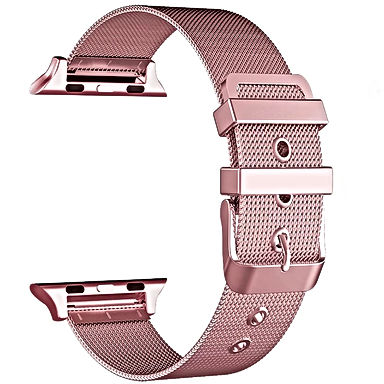 Pink Mesh Apple Watch Band