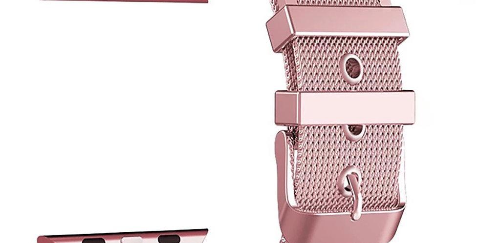 Pink Mesh Apple Watch Band