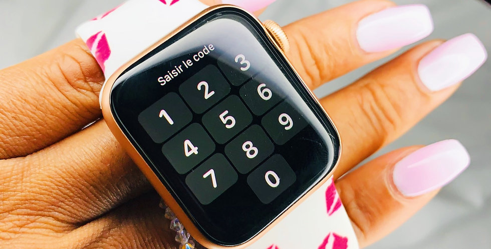 Red Kiss Apple Watch Band