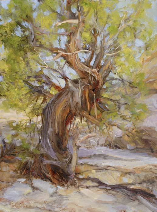 Wise Old Cedar Painting by Richard Lance Russell