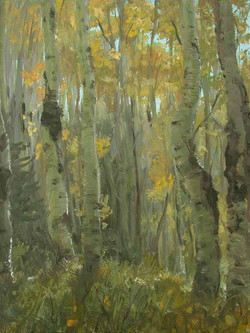 Aspen Grove Painting by Richard Lance Russell