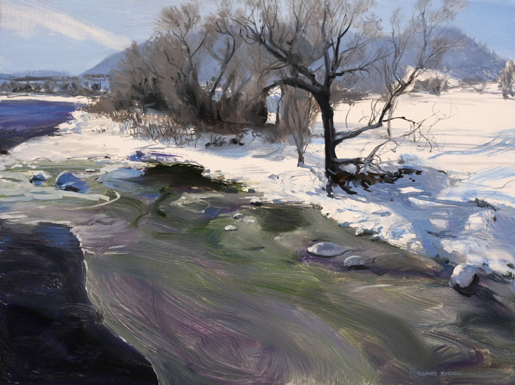 Durango River South Painting by Richard Lance Russell