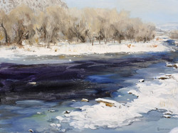 Durango River North Painting by Richard Lance Russell