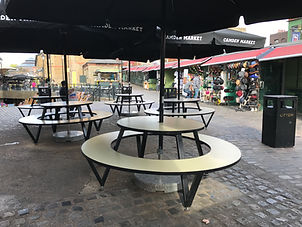 Camden Market - Designed and manufacturered by Qubis Design Installed throughout Camden Market & Camden Lock