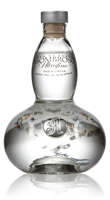 AsomBroso El Platino Blanco Tequila bottle