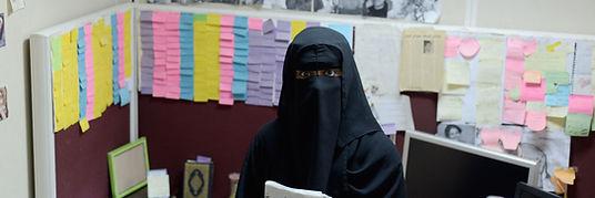 Saudi woman journalist