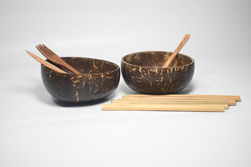Coconut and Bamboo Set