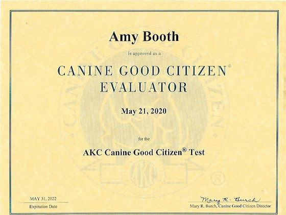 Amy is a CGC and TKN evaluator!!!