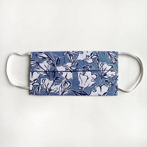 Blue Sketch Floral