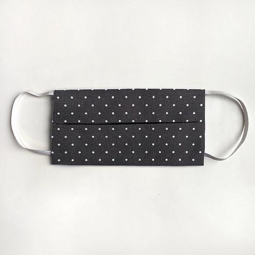 Black & White Polka Dot Mask