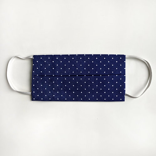 Navy & White Polka Dot Mask
