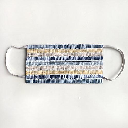 Navy & Gold Crosshatch Stripe