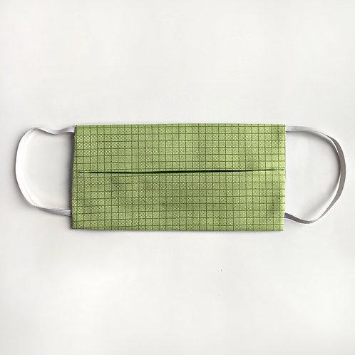 Lime Green Check Mask