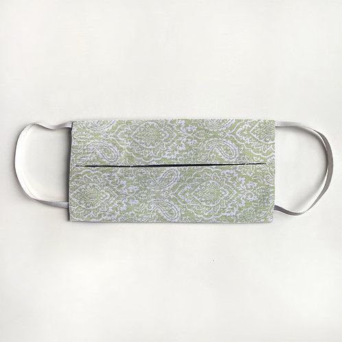 Lime Paisley Damask