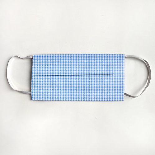 Light Blue Mini Check Mask