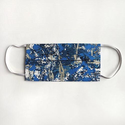 Blue & Grey Splatter