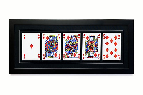 Royal Flush Playing Cards Printed on Watercolor Paper