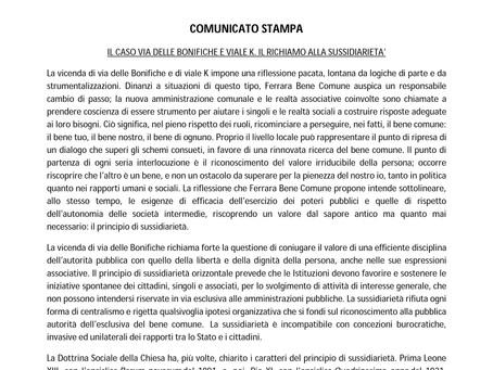 """Sussidiarietà, legalità e rispetto della persona: """"Ferrara Bene Comune"""" sulla questione campo nomadi"""