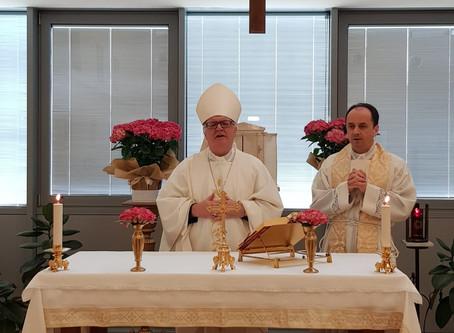 """All'Ospedale di Cona Messa """"a porte chiuse"""" del Vescovo con il cappellano. Donazione di 10mila euro"""