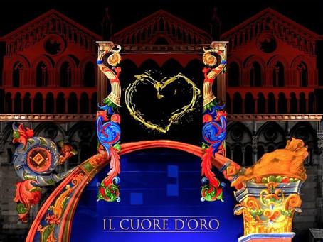 """Cattedrale di Ferrara, """"Il cuore d'oro"""" nella videoevocazione artistica sulla facciata"""