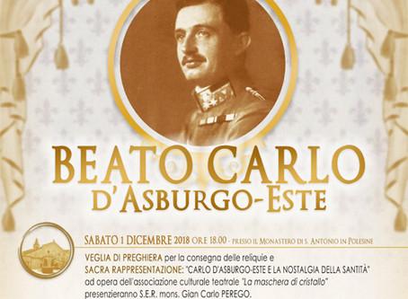 1-2 dicembre: a Ferrara le reliquie del beato Carlo d'Asburgo-Este