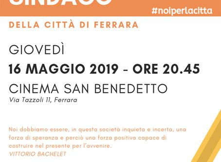 16 maggio, S. Benedetto: incontro candidati Sindaco a Ferrara